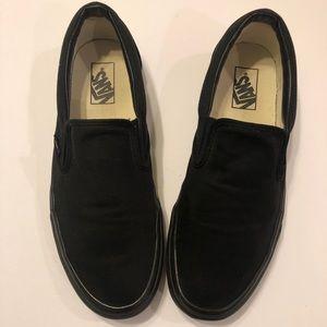 Vans Black/Black Slip-on Sneakers